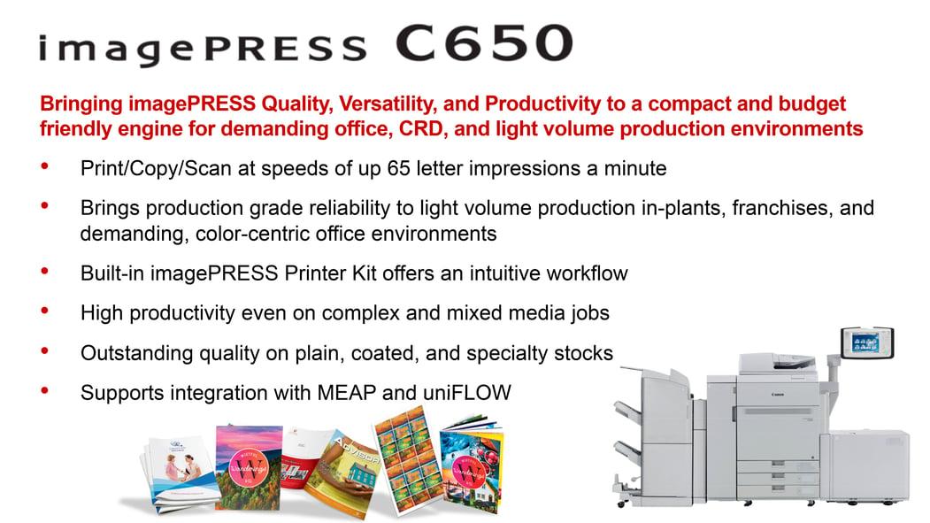 Canon C650 Imagepress